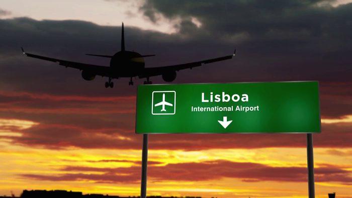 Anflug Lissabon