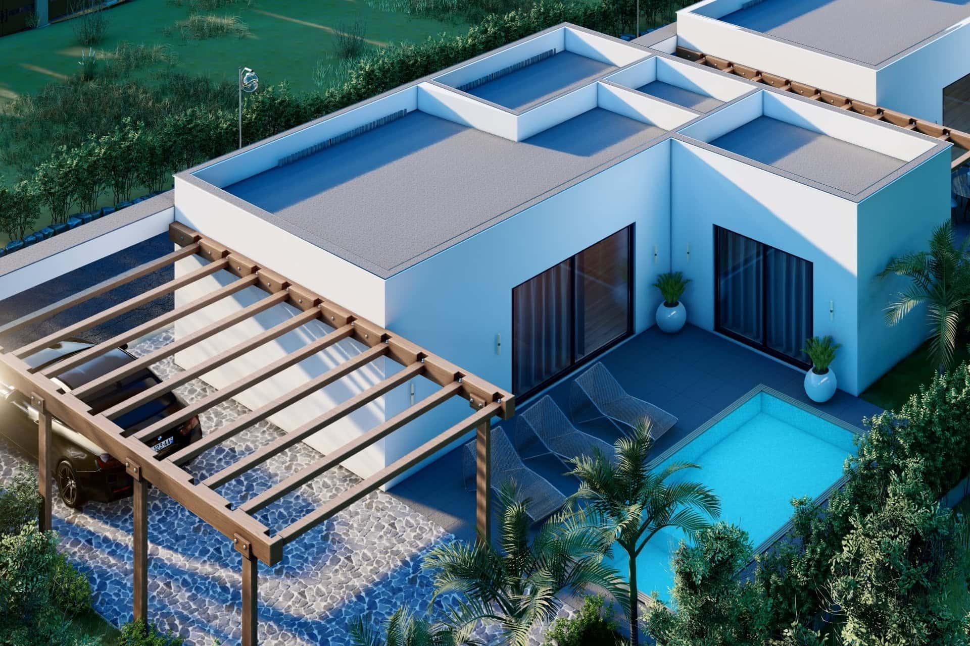 Modernes Haus mit Garten und Schwimmbad